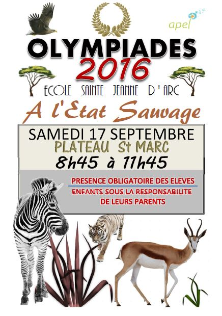Affiche Olympiades 2016